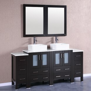 Filipo 72 Double Bathroom Vanity Set with Mirror by Bosconi