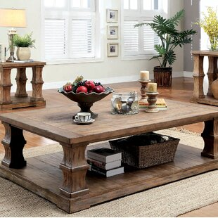 Gracie Oaks Charlotte Coffee Table with W..