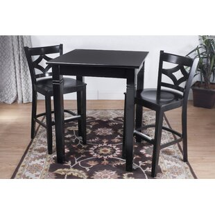 Fralick 3 Piece Pub Table Set by Bloomsbury Market