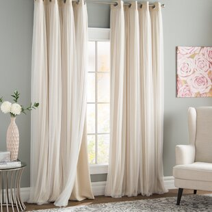 Brockham Room Darkening Thermal Grommet Curtain Panels (Set of 2)