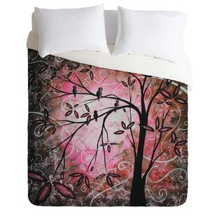 East Urban Home Cherry Blossoms Duvet Cover Set