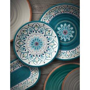 Moroccan Medallion Melamine 12 Piece Dinnerware Set, Service for 4