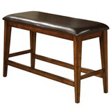 Laraway Faux Leather Wooden Counter Height with Footrest and Leatherette Bench by Red Barrel Studio®