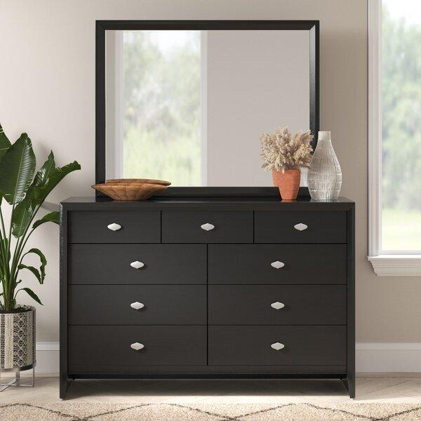 Ebern Designs Willenhall 9 Drawer Double Dresser With Mirror Reviews Wayfair