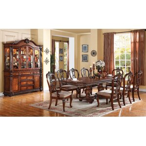 Mccullers Double Pedestal Drop Leaf Dining Table