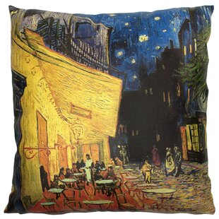 Van Gogh Cafe at Night Throw Pillow