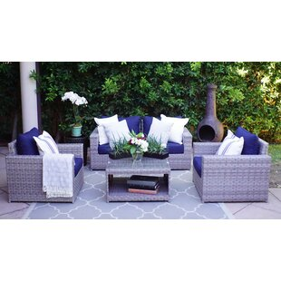Burkley Olefin 5 Piece Sectional Seating Group