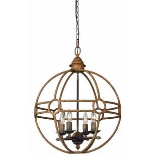 Gracie Oaks Millicent 4-Light Globe Chandelier