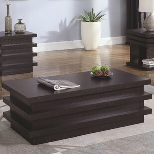 Rondel Contemporary Wooden 2 Piece Coffee Table Set