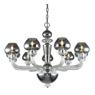 Columbus 9-Light Shaded Chandelier by Rosdorf Park