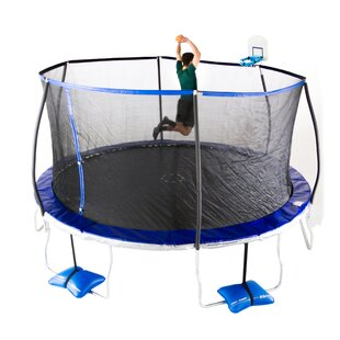 TruJump 15' Round Trampoline with Safety Enclosure