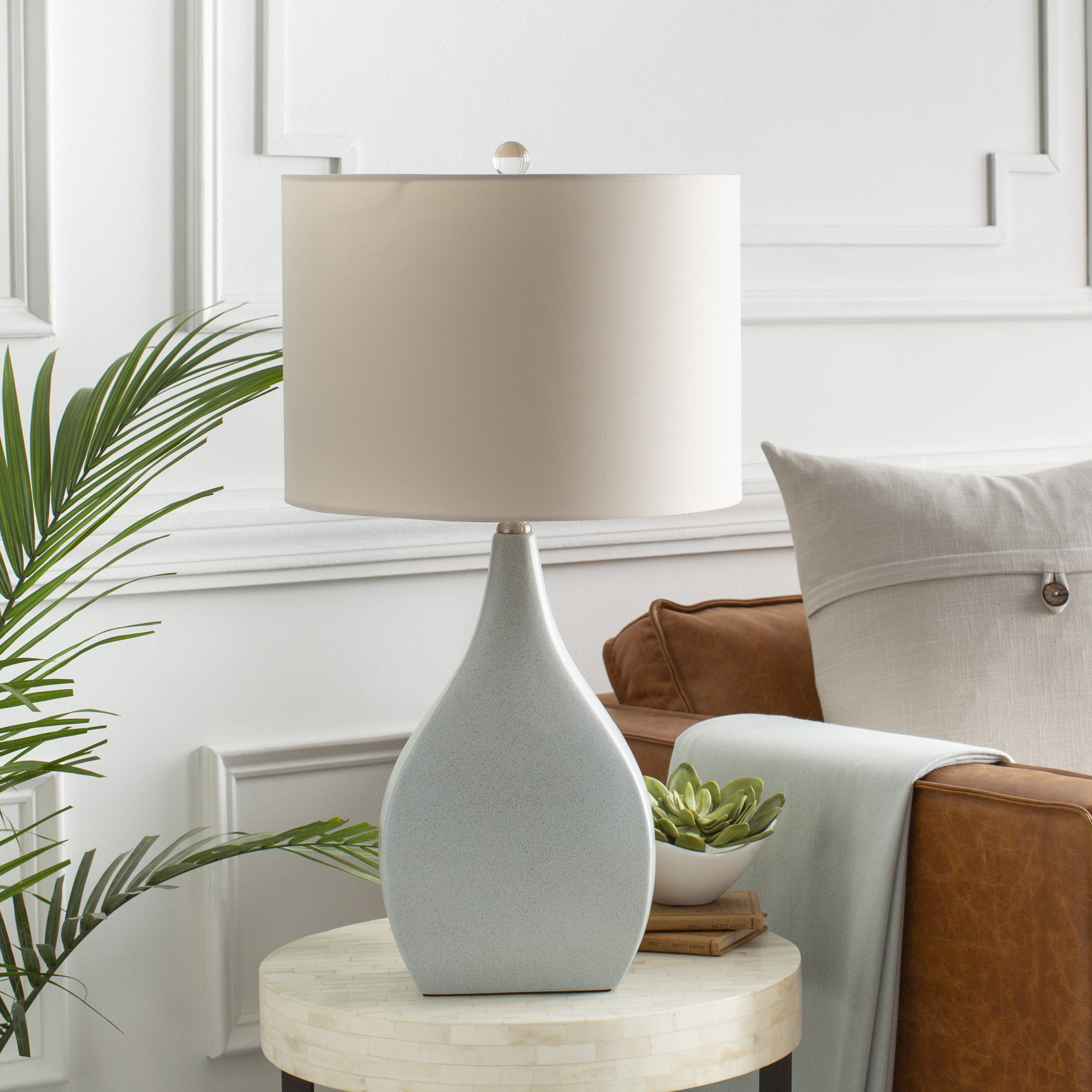 Coastal Gray Shade Table Lamps You Ll Love In 2021 Wayfair