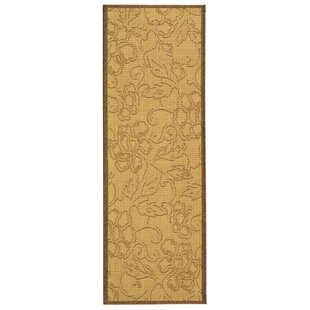 Short All Over Dark Tan Indoor/Outdoor Area Rug