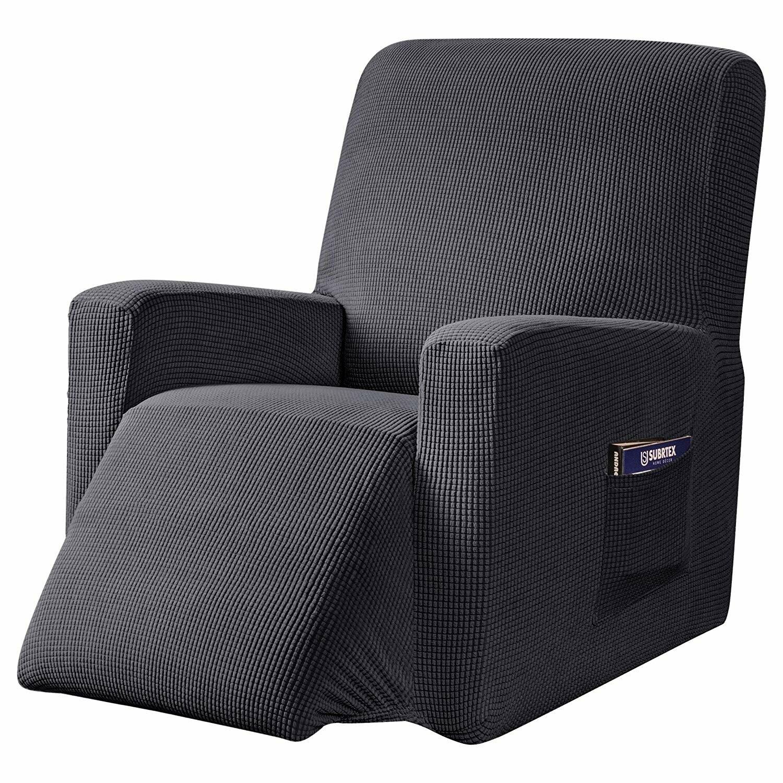 Ebern Designs Super Soft Stretch Textured Grid Box Cushion Recliner Slipcover Reviews Wayfair
