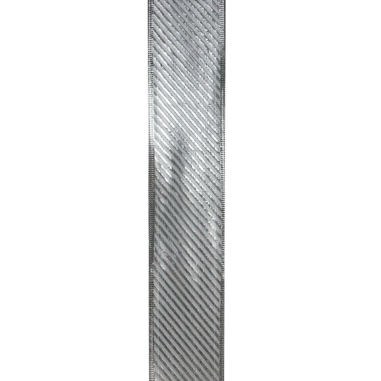 Northlight Shiny Gold Diagonal Striped Wired Christmas Craft Ribbon 2 5 X 10 Yards Wayfair