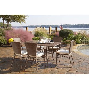 Panama Jack Outdoor Key Biscayne 7 Piece Dining Set with Cushions