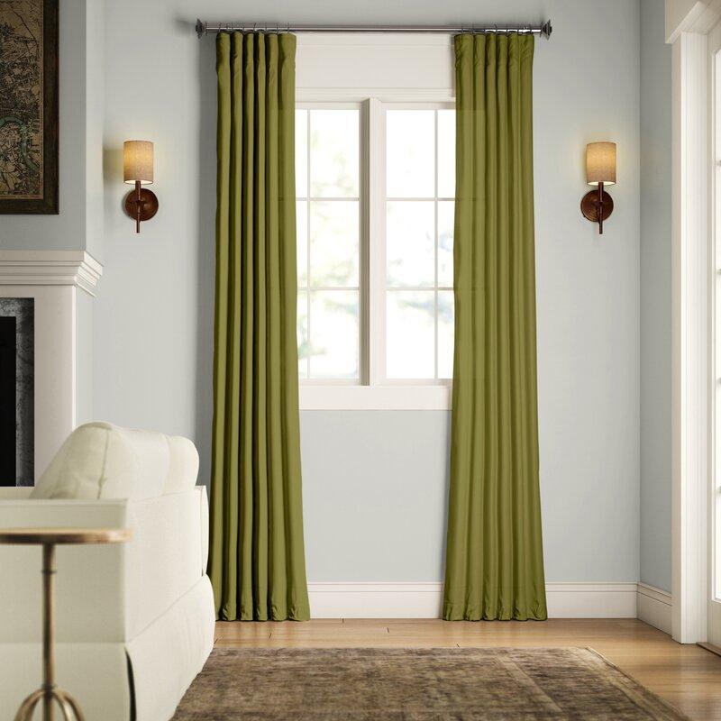 Birch Lane Creola Solid Color Room Darkening Thermal Rod Pocket Single Curtain Panel Reviews Wayfair