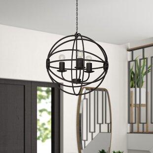 Nasir 3-Light Globe Chandelier by Brayden Studio