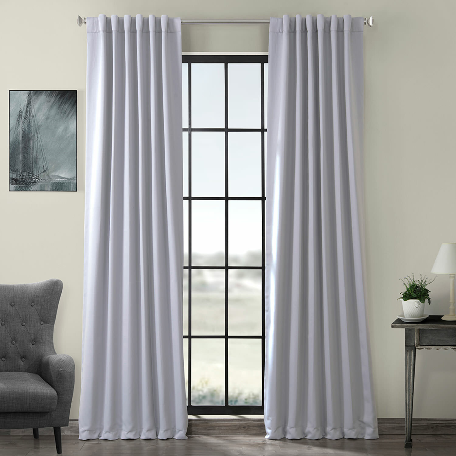 Gray And Silver Curtains Drapes Wayfair