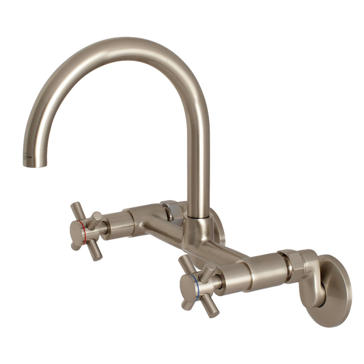 Kingston Brass Concord 9-Inch Adjustable Centre Wall Mount Kitchen Faucet,  Oil Rubbed Bronze