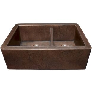 33 L x 22 W Double Basin Farmhouse Kitchen Sink by Native Trails, Inc.