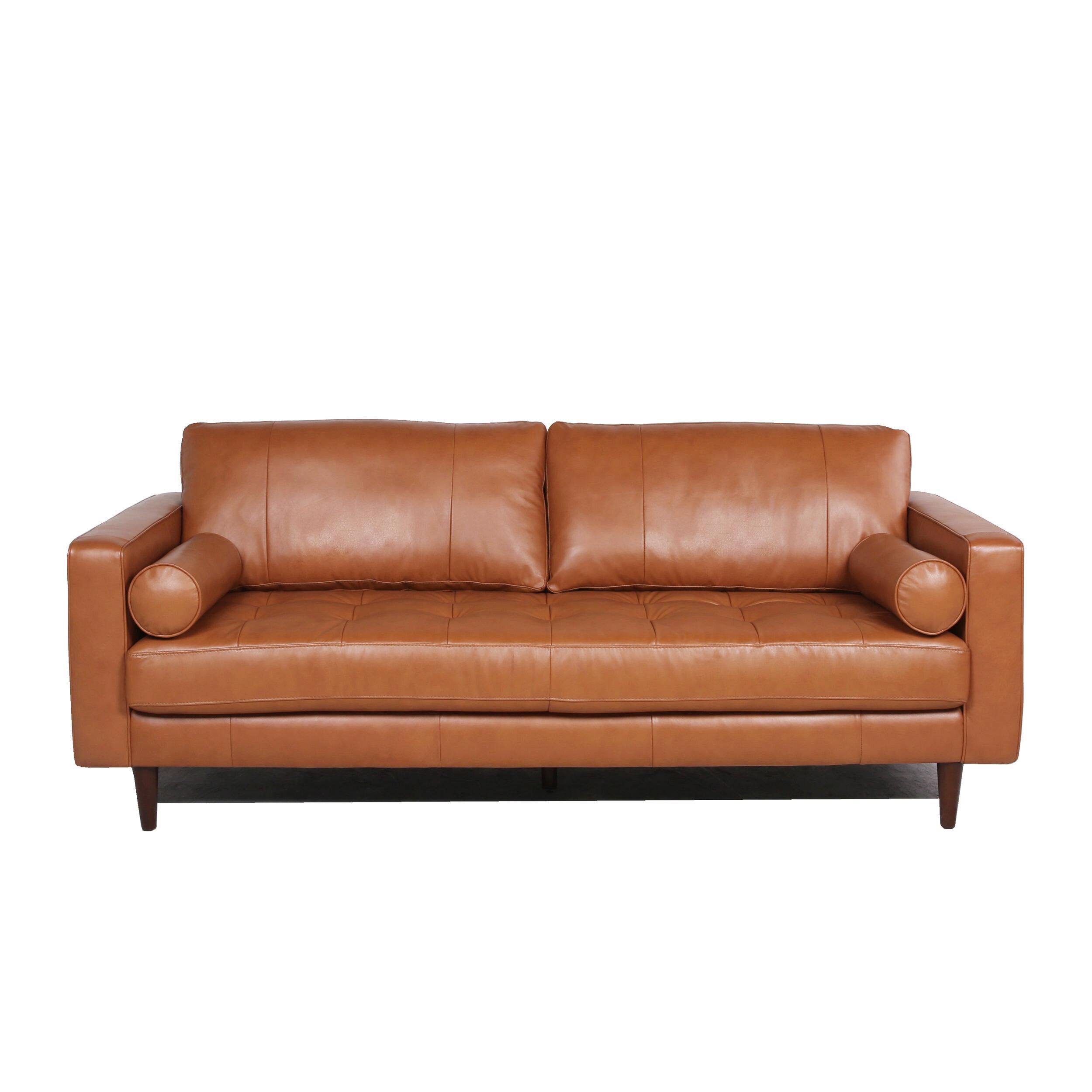 Brayden Studio Bickford Leather Sofa