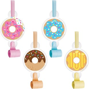 Donut Plastic/Paper Disposable Party Favor Set (Set of 24)