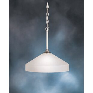 Wheatfield 1-Light Cone Pendant by Andover Mills