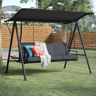 Andover Mills Marquette 3-Seat Cushion Porch Swing with Stand