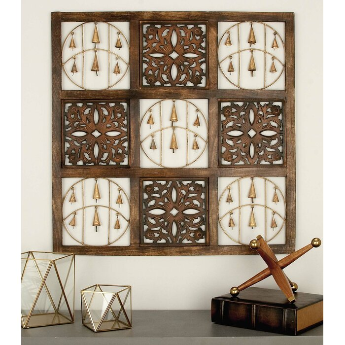 Metal And Wood Panel Wall Décor