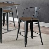 Kayman Solid Wood 25.5 Counter Stool (Set of 4) by 17 Stories