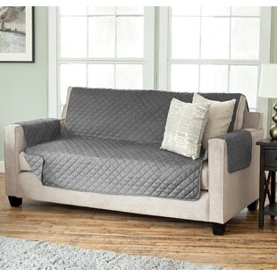 Oberon Diamond Box Cushion Sofa Slipcover by Andover Mills