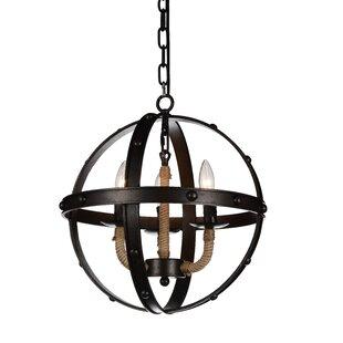 Longshore Tides Cicero 3-Light Globe Chandelier