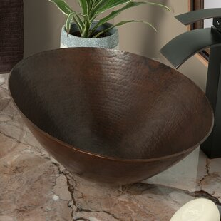 Find Bilboa Copper Metal Oval Vessel Bathroom Sink By Novatto