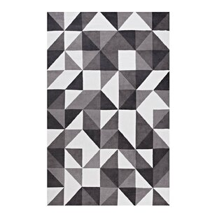Witherell Geometric Triangle Mosaic Black/Gray/White Area Rug
