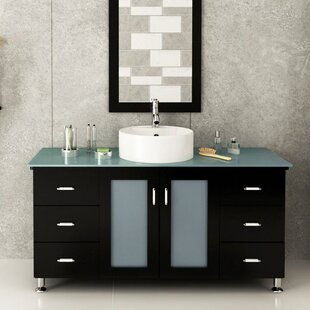 Grand Lune 47 Single Vessel Modern Bathroom Vanity Set by JWH Living