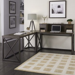 Home Styles Xcel L Corner Desk with Hutch