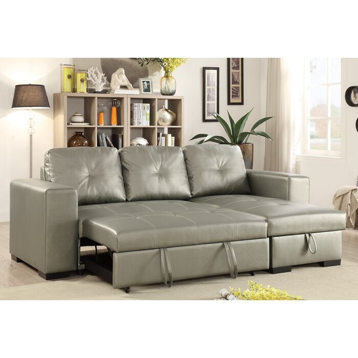 pull bed sofa dayna sectional sleeper gray with out