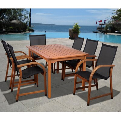 Trombetta International Home Outdoor 7 Piece Dining Set by Highland Dunes Today Only Sale