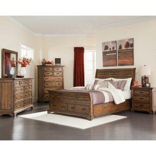 pinole sleigh configurable bedroom set - Wood Bedroom Sets