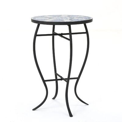 Leeds Stone/Concrete Side Table by Charlton Home