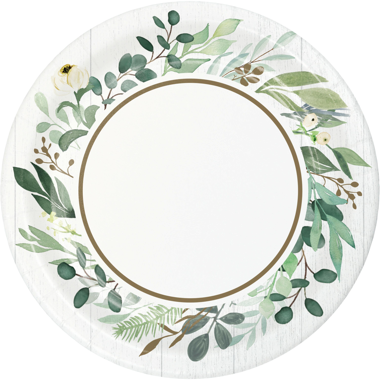 Creative Converting Eucalyptus Heavy Weight Paper Disposable Dessert Plate Reviews Wayfair