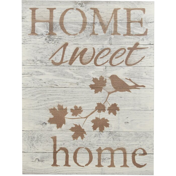 Home Sweet Wooden Pallet Sign Wall Décor