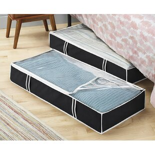 Price Check Fabric Underbed Storage By Rebrilliant