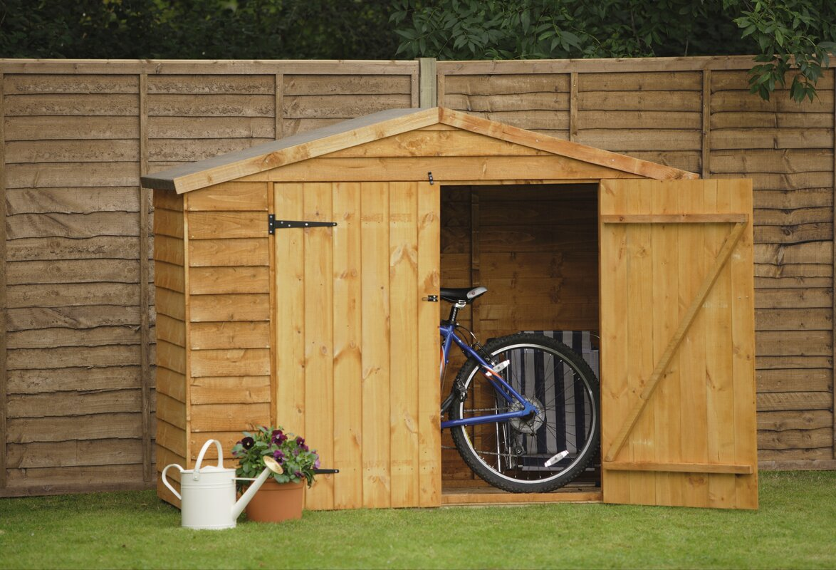 Forest Garden Ft W X Ft D Wooden Bike Shed Reviews