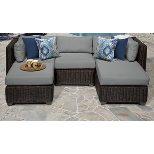 Rosecliff Heights Eldredge 5 Piece Sectional Set with Cushions