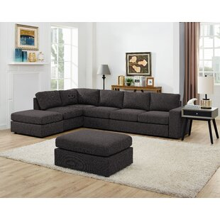 Gosnell Modular Sectional With Ottoman by Greyleigh Great price