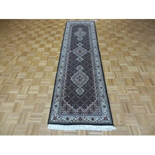 Find for One-of-a-Kind Beaton Persian Hand-Knotted Wool Black Area Rug By Isabelline
