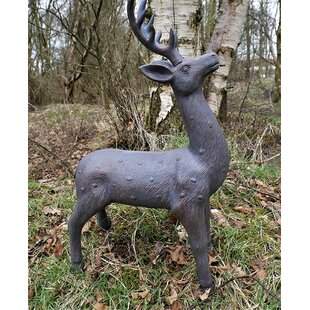 Hamner Large Bronze Effect Stag Garden Ornament By Sol 72 Outdoor