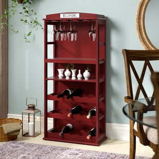 Belair Phone Booth 15 Bottle Floor Wine Bottle Rack with Wine Storage by Darby Home Co